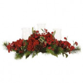 30 in. Holiday Hydrangea Candelabrum