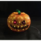 11.8 in. 80-Light White LED Decorative Pumpkin