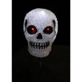 7.9 in. H 10-Light White LED Decorative Skull Light