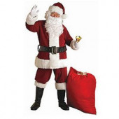 Adult XX-Large Crimson Regal Plush Santa Suit Costume