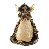 16 in. AA Leopard Angel Tree Topper