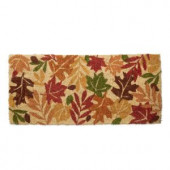 Estate Harvest Leaves 18 in. x 40 in. Coir Mat
