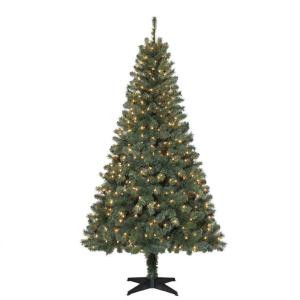 6.5 ft. Verde Spruce Artificial Christmas Tree with 400 Clear Lights