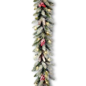 9 ft. Dunhill Fir Garland with Clear Lights