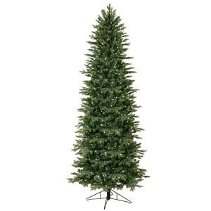 7.5 ft. Indoor Pre-Lit Just Cut Aspen Fir Artificial Christmas Tree with Clear ConstantON Lights and 1-Plug