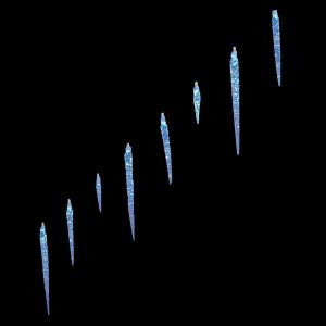 25-Light LED Blue Icicle Lights with Twinkle Function