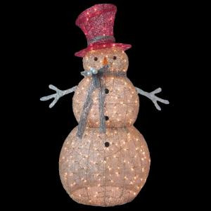 5 ft. Pre-Lit Gold Snowman