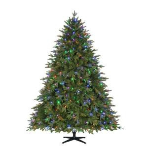 7.5 ft. Pre-Lit LED Monterey Fir PE Quick-Set Artificial Christmas Tree with 700 Color Choice Lights and Remote Control