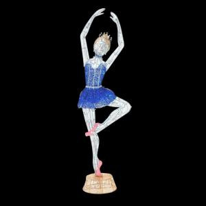 78 in. LED Lighted Twinkling Tinsel Ballerina