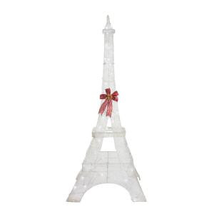 86 in. LED Lighted Twinkling PVC Eiffel Tower