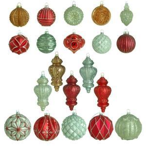 Winter Tidings Glass Ornament (20-Count)