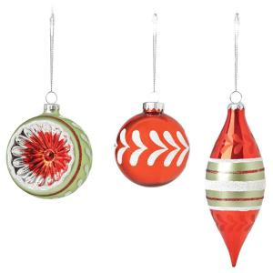3.25 Vintage Style Christmas Ornaments (Set of 12)