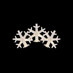 50-Light LED Warm White Snowflake Light Set