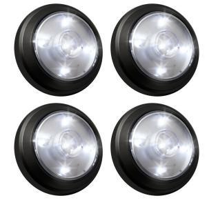 4-Light LED White Cold Gazebo Spot Light Set (2-Pack)