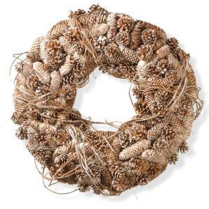 22 in. Pinecone Artificial Wreath