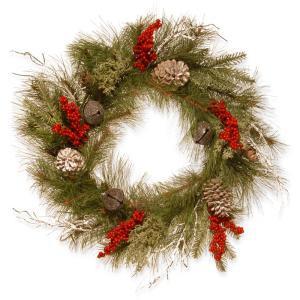 24 in. Bells and Berries Artificial Wreath