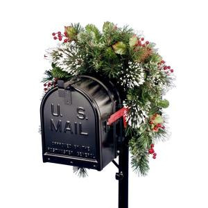 36 in. Wintry Pine Collection Mailbox Cover