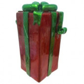 22.75 in. LED Lighted Red Jumbo Gift Box
