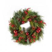 24 in. Mixed Pine Hampton Artificial Wreath