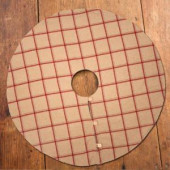 47 in. Tan and Red Flannel Tree Skirt
