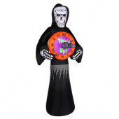 8 ft. Inflatable Reaper with Spinning Clock