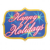 "Battery-Operated 16 in. ""Happy Holidays"" LED Light Show Sign"