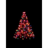 3 ft. Indoor/Outdoor Pre-Lit Incandescent Artificial Christmas Tree with Green Frame and 200 Multi-Color Lights