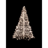 4 ft. Indoor/Outdoor Pre-Lit Incandescent Artificial Christmas Tree with White Frame and 300 Clear Lights