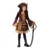 Sassy Victorian Pirate Child Costume