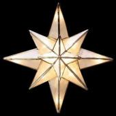 Clear Capiz Bethlehem Star Tree Topper