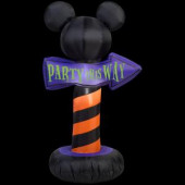 25.20 in. W x 18.11 in. D x 42.13 in. H Inflatable-Outdoor Sign Mickey Ears Party This Way
