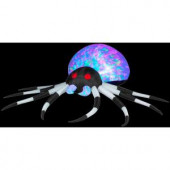 2.6 ft. Inflatable Projection Kaleidoscope Spider