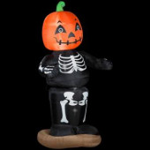 36.22 in. W x 30.71 in. D x 72.05 in. H Animated Inflatable Dancing Pumpkin Boy Skeleton
