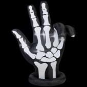70.09 in. W x 30.32 in. D x 83.86 in. H Animated Inflatable Skeleton Hand