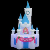 8 ft. H Projection Kaleidoscope Inflatable Cinderella's Castle