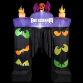 80.71 in. W x 23.62 in. D x 114.17 in. H Inflatable Archway Eye Scream with Blinking Eyes