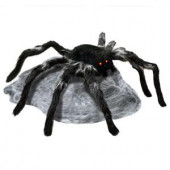 21.65 in. Animated Jumping Spider with Red LED Eyes