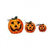 9 in. and 12 in. and 18 in. Burlap Pumpkin Set
