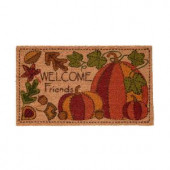 Appliqued Pumpkins 17 in. x 29 in. Coir Door Mat