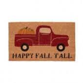 Fall Pickup 17 in. x 29 in. Coir Door Mat