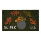 Gather Here Acorn 17 in. x 29 in. Coir Door Mat