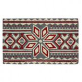 Nordic Snow 17 in. x 29 in. Hand Hooked Holiday Mat