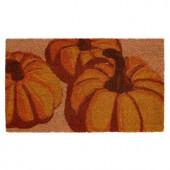 Pumpkin Trio 17 in. x 29 in. Coir Door Mat