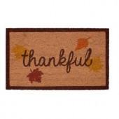 Thankful 17 in. x 29 in. Coir Door Mat