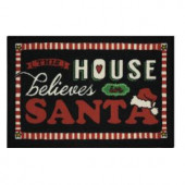 This House Chalk 17 in. x 29 in. Printed Holiday Mat