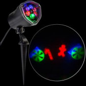 LED Projection-Whirl-a-Motion-Candy Cane Mix RRGB Stake Light