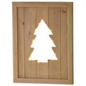 10 in. Tree Silhouette Lighted Wall Decor