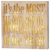13.75 in. Most Wonderful Time Wall Decor