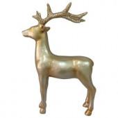 15 in. Winter's Wonder Gold Standing Reindeer