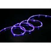 80-Light 16 ft. LED Purple Mini Rope Light TRUE-Tech 360° Directional Shine